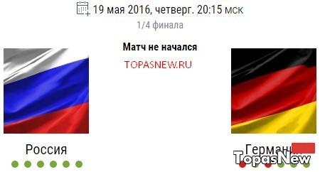 Хоккей: Россия Германия 19.05.2016 Чемпионат Мира смотреть онлайн