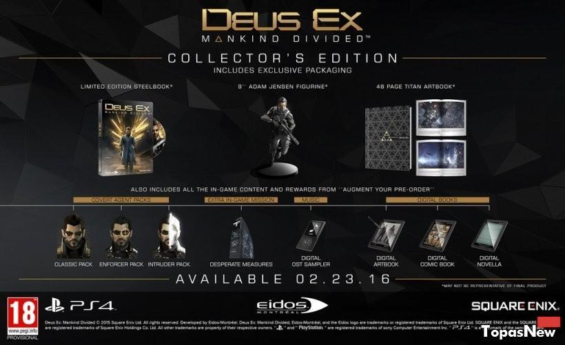 Все бонусы за предзаказ Deus Ex: Mankind Divided теперь бесплатные